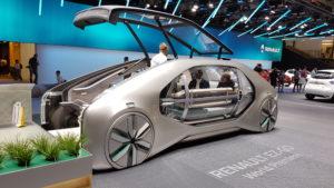 Vue latérale du concept EZ-GO de Renault
