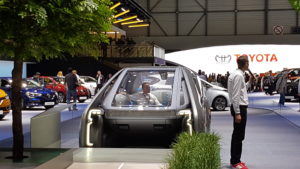 Vue arrière du concept EZ-GO de Renault