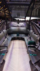 Vue intérieure du concept EZ-GO de Renault