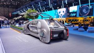 Le concept Renault EZ-GO amarré à sa plateforme